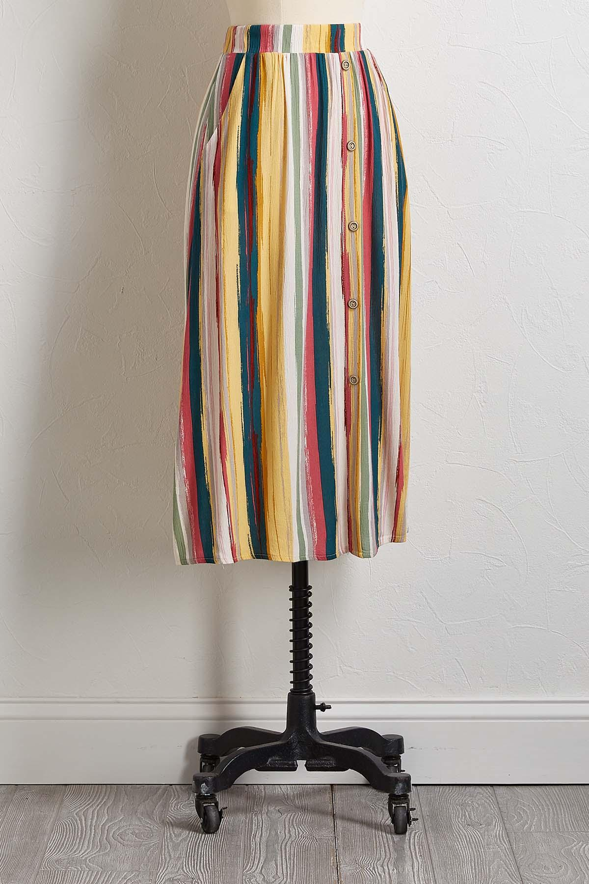Brushed Stripe Skirt