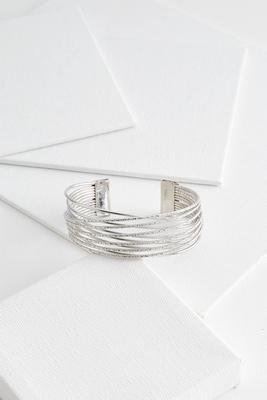 layered criss cross cuff