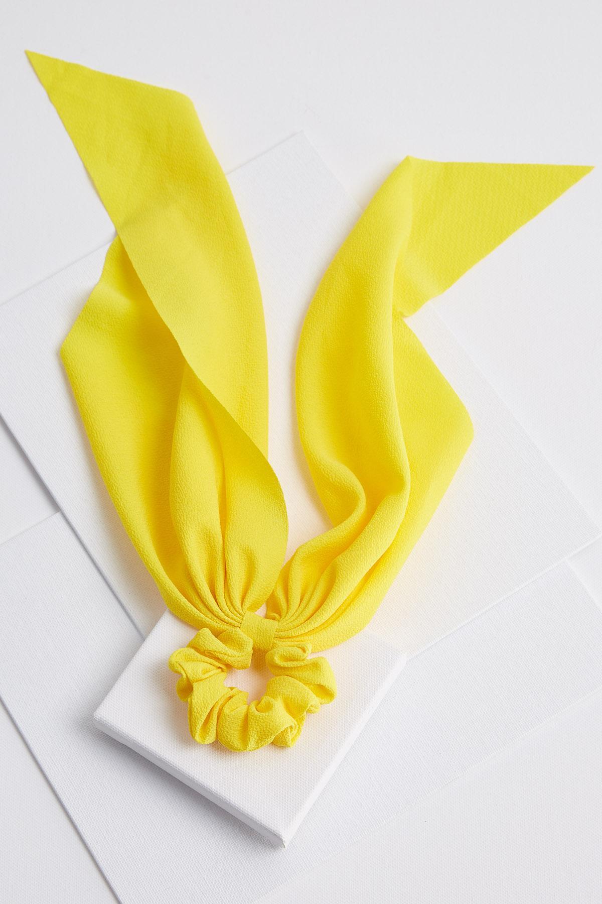 Yellow Scarf Scrunchie