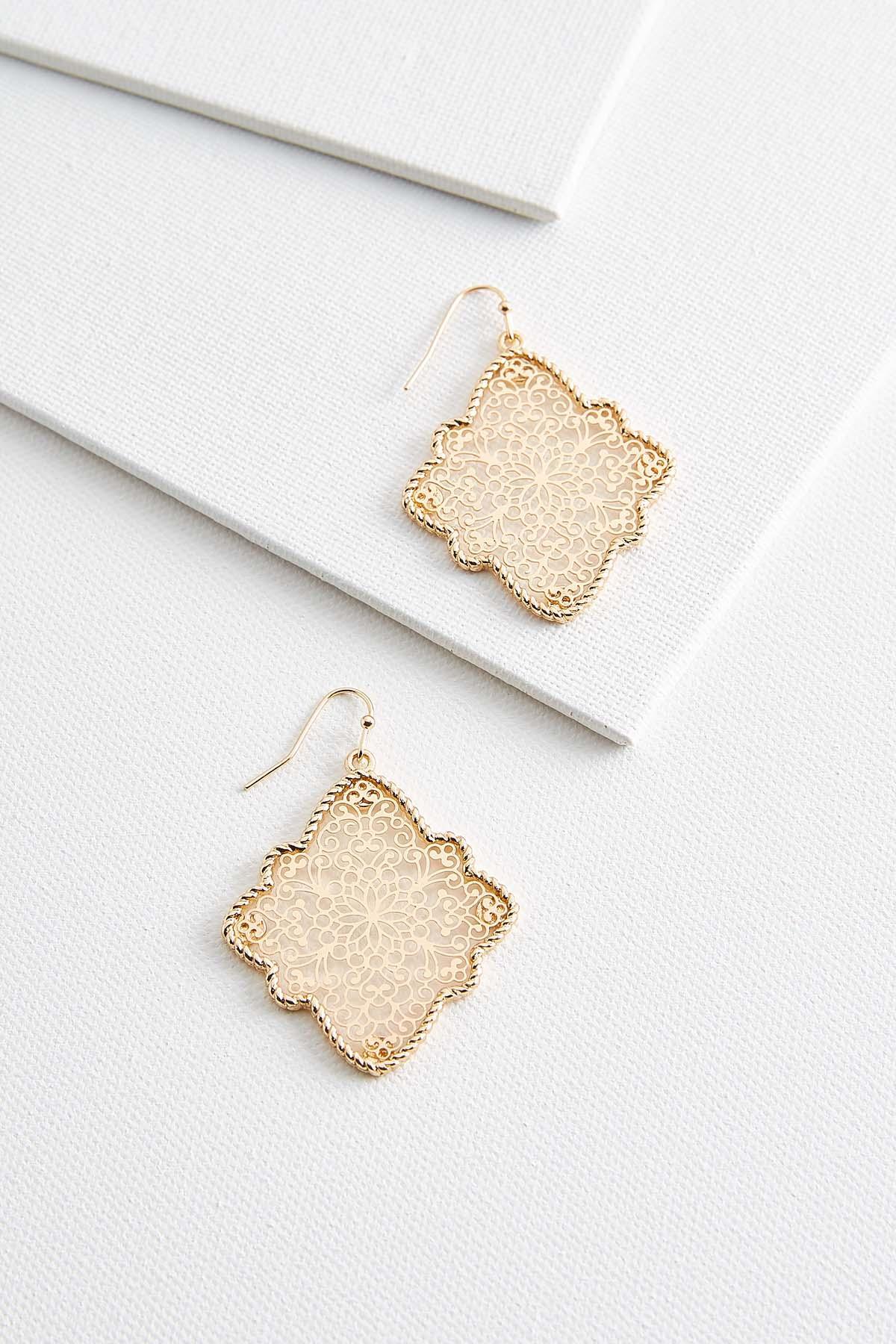 Filigree Diamond Shaped Earrings
