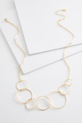 mod linked circle necklace