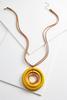 Orbital Wooden Pendant Necklace