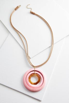 orbital wooden pendant necklace