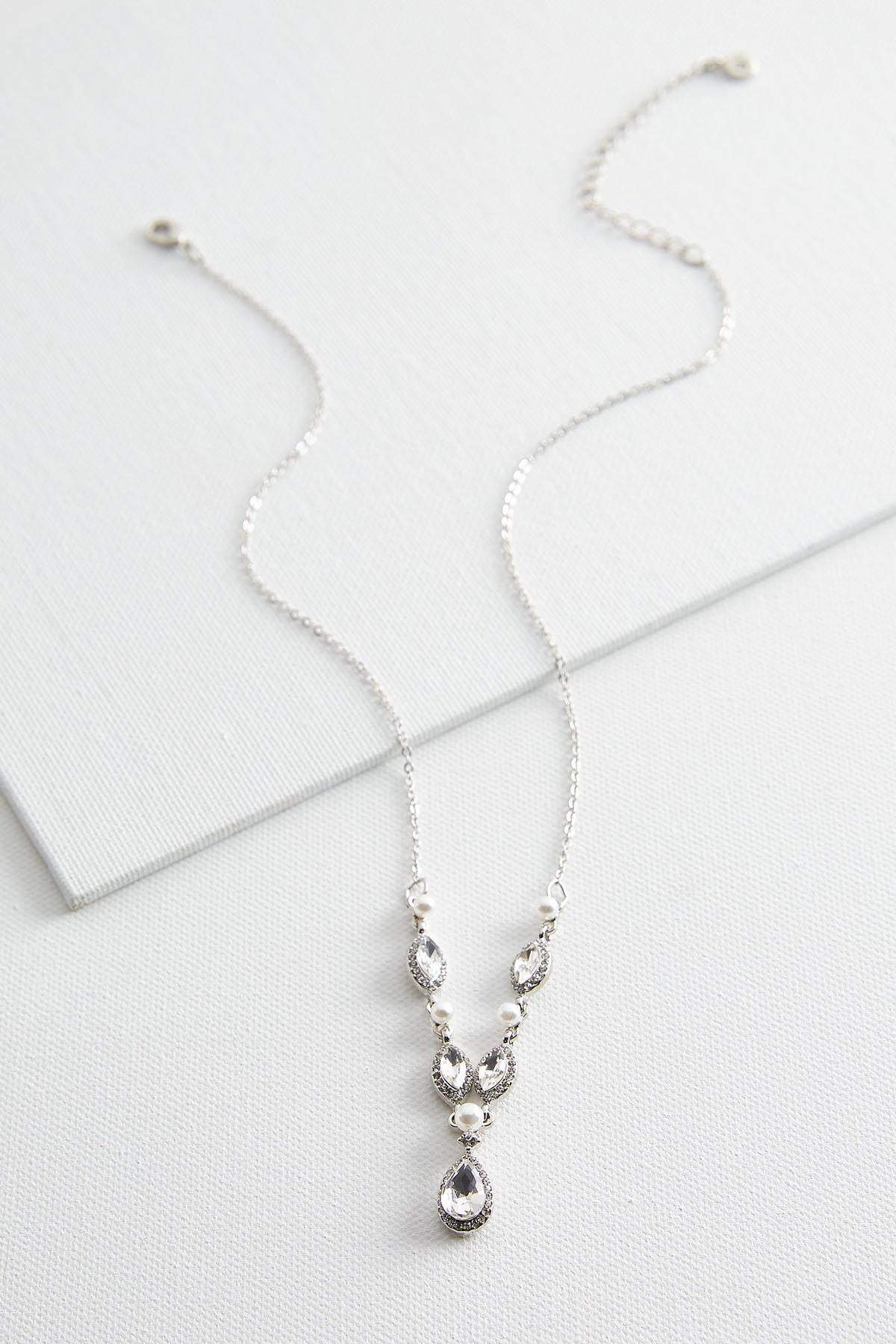 Pearl And Stone Y- Necklace