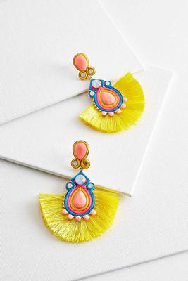 tiki fringe earrings