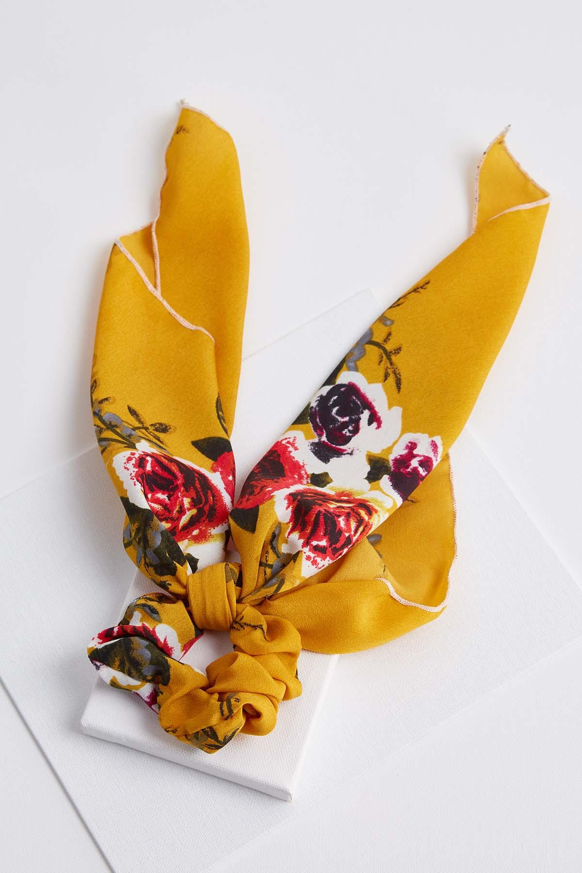 Floral Scarf Scrunchies