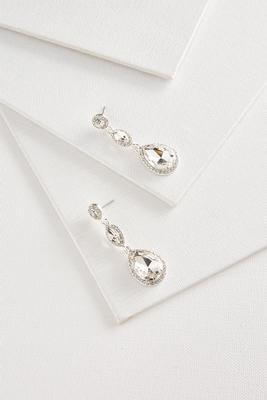 linear tear shaped earrings