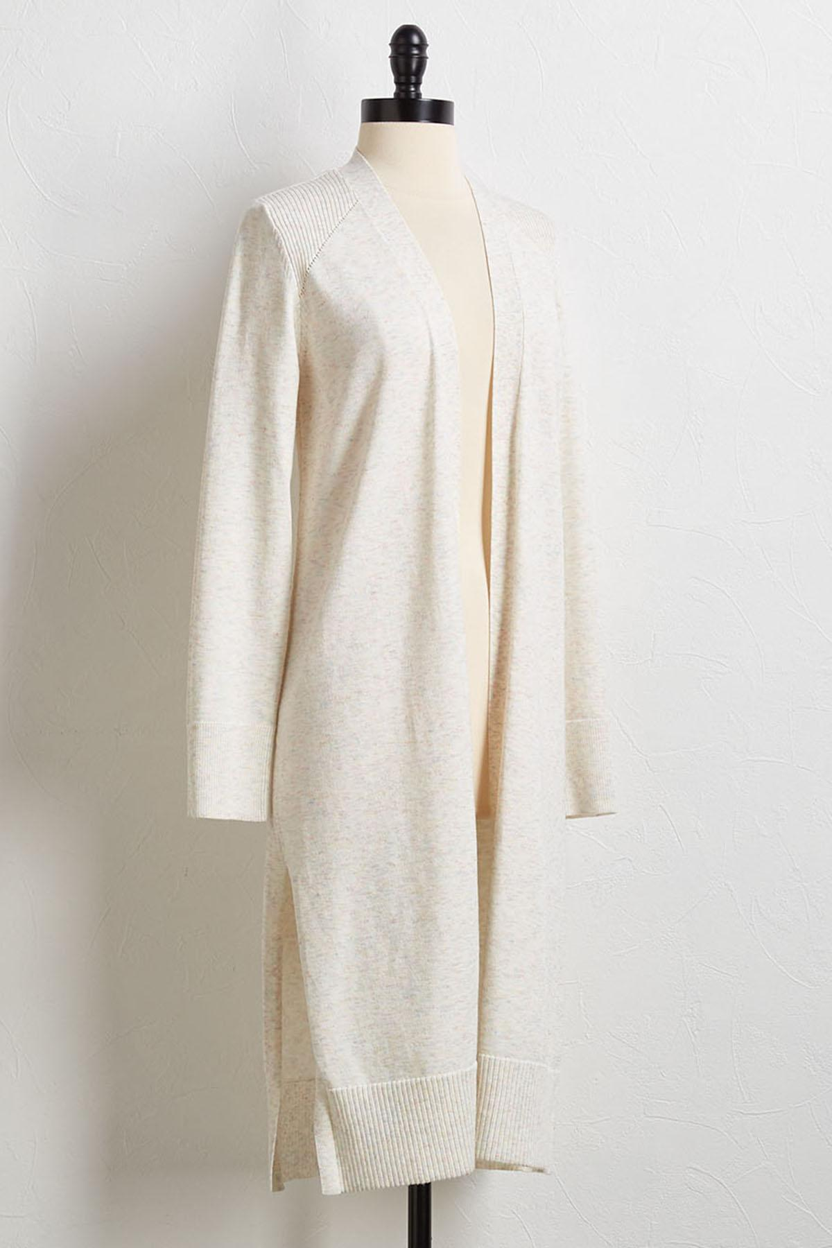Speckled Duster Cardigan