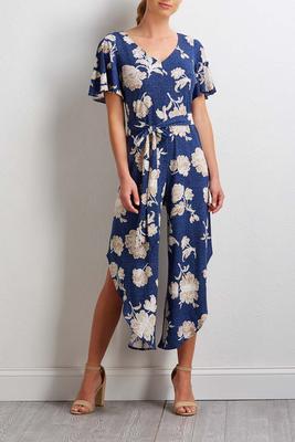 puff floral jumpsuit