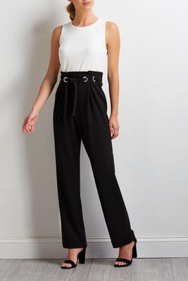 grommet colorblock jumpsuit