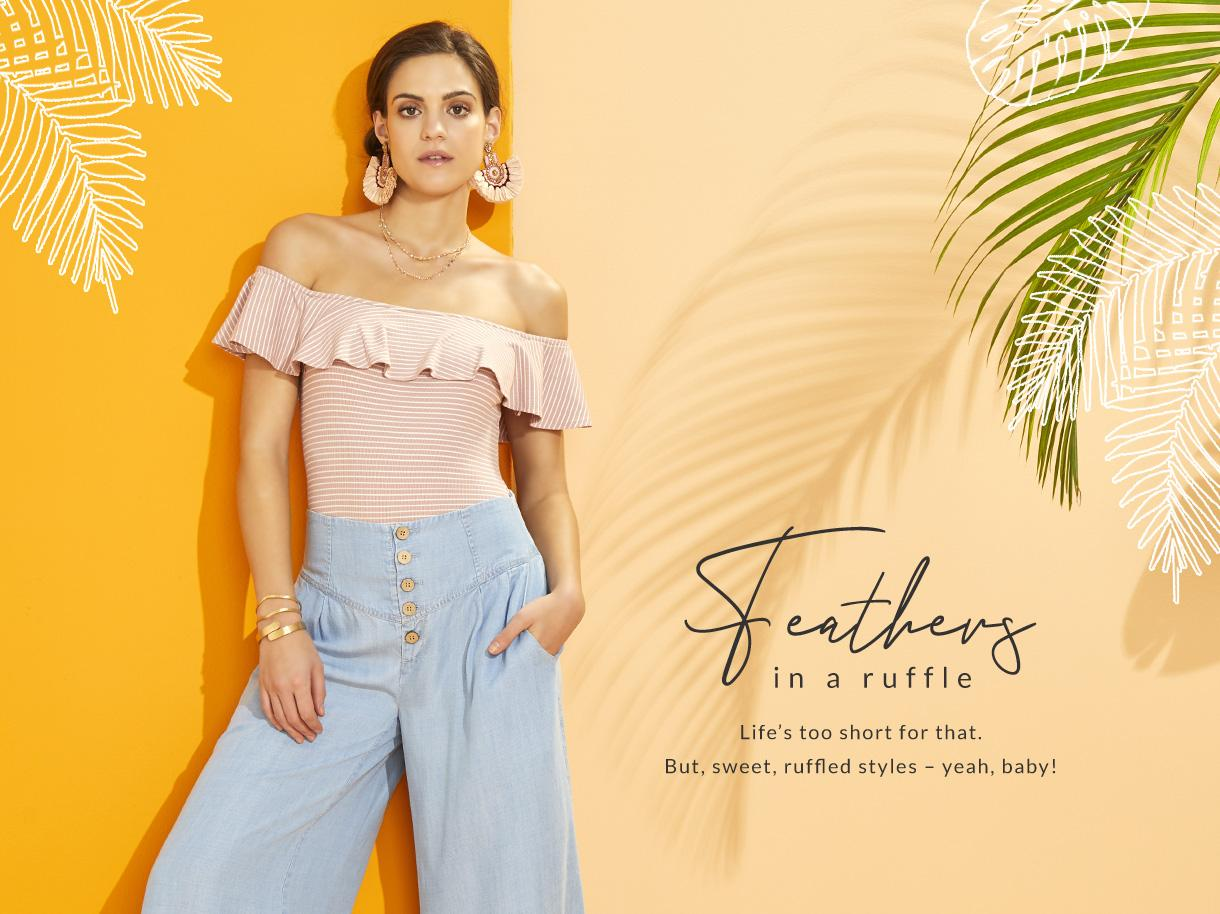 Feathers in a Ruffle collection