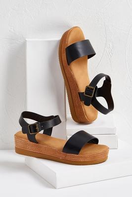 buckle flatform sandals