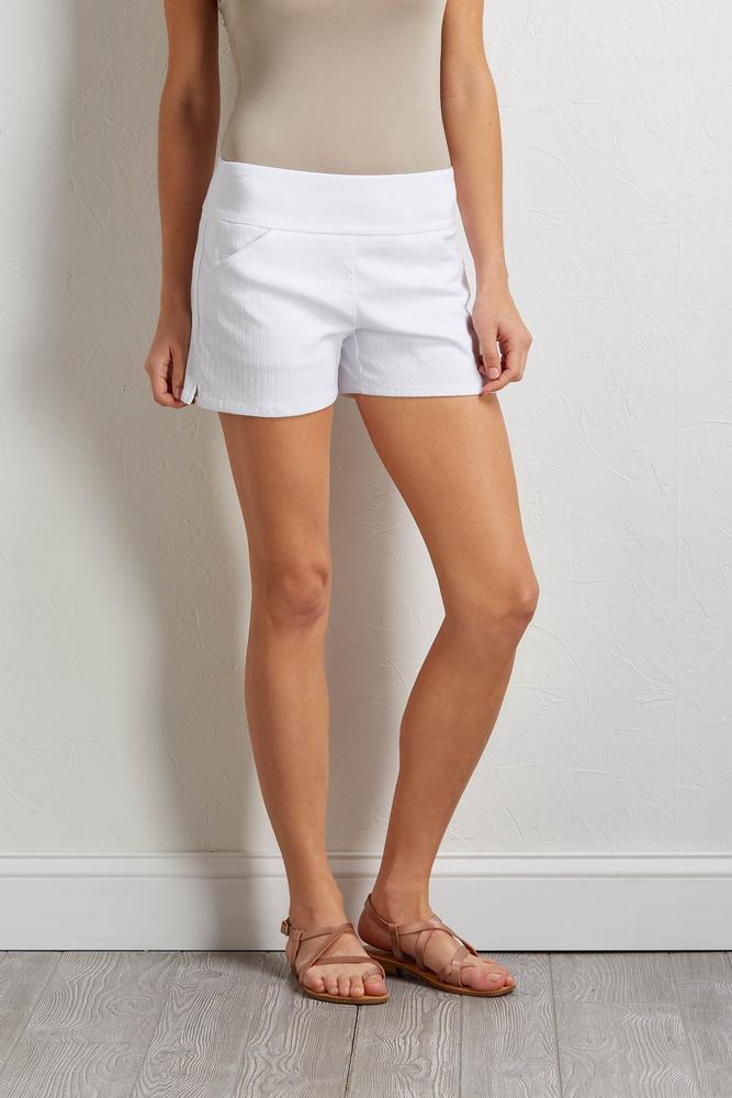 Solid Chevron Shorts