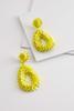 Dangling Sequin Flower Earrings