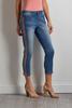 Cropped Shimmer Stripe Jeans