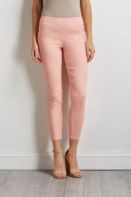 Lipstick ribbed pull-on pants