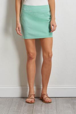green stripe skort