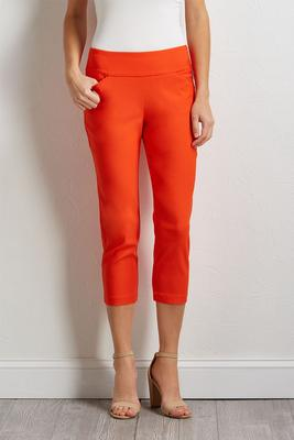 cropped orange pants