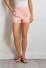 Pink Cuffed Shorts