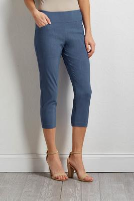 cropped denim blue pants