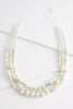 Layered Rhinestone Pearl Necklace