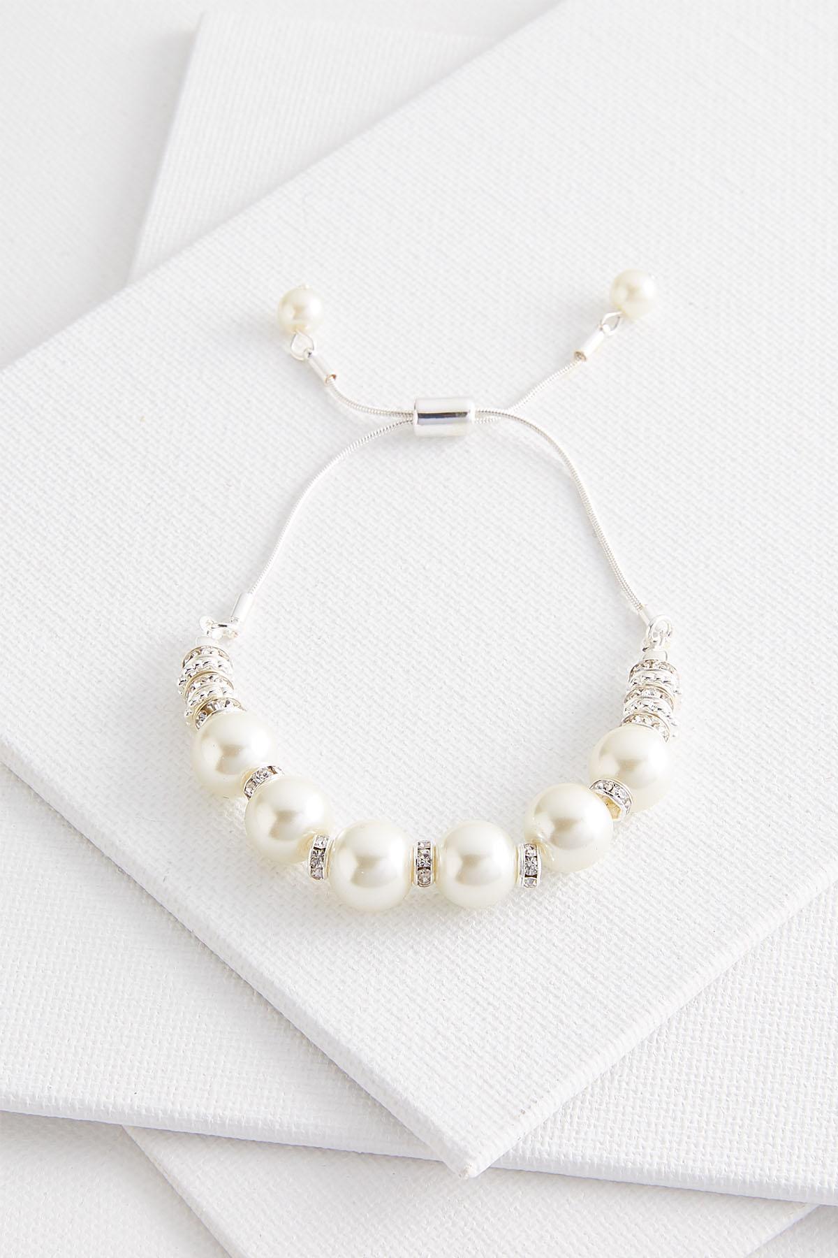 Pearl And Rhinestone Bracelet