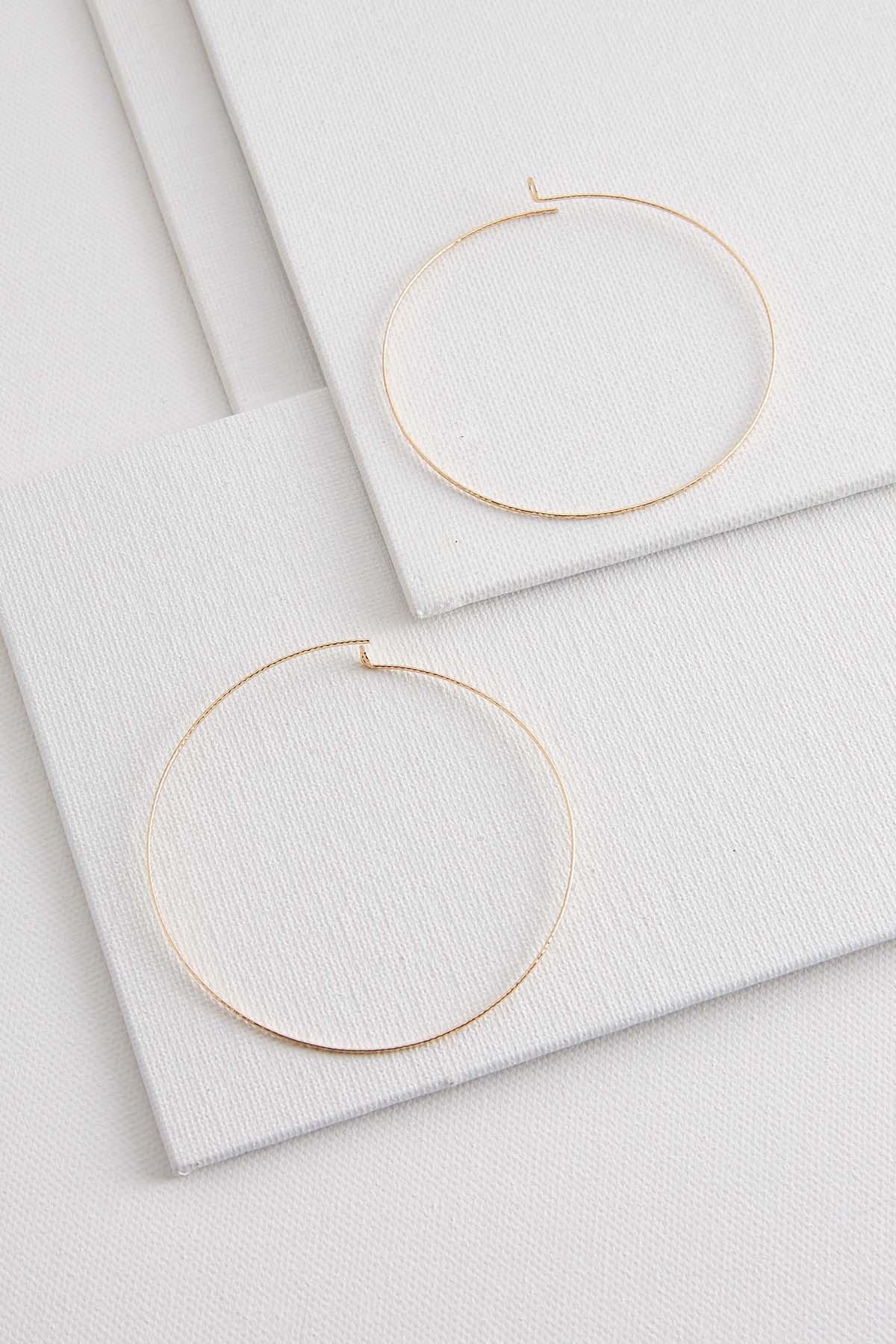 Thin Metal Hoop Earrings