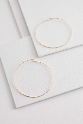 thin metal hoop earrings