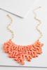 Iridescent Coral Bib Necklace