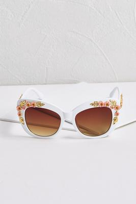white floral sunglasses