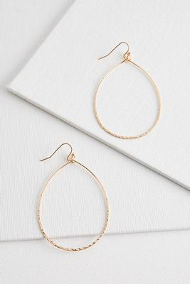 textured tear shaped hoops