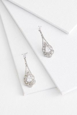lacy stone earrings