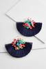 Sequin Floral Fringe Earrings
