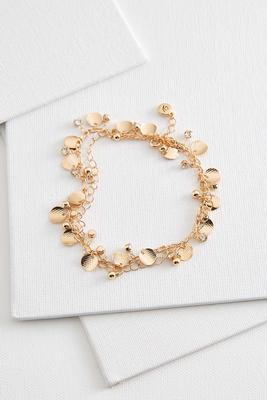 shaky disk ankle bracelet