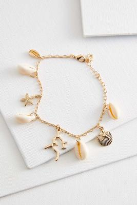 sea life charm ankle bracelet