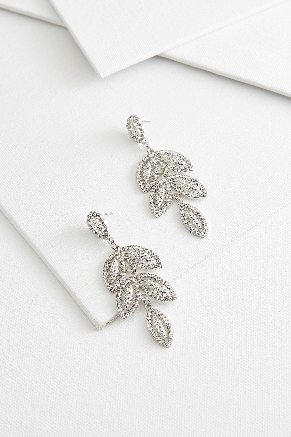 Filigree Leaf Chandelier Earrings