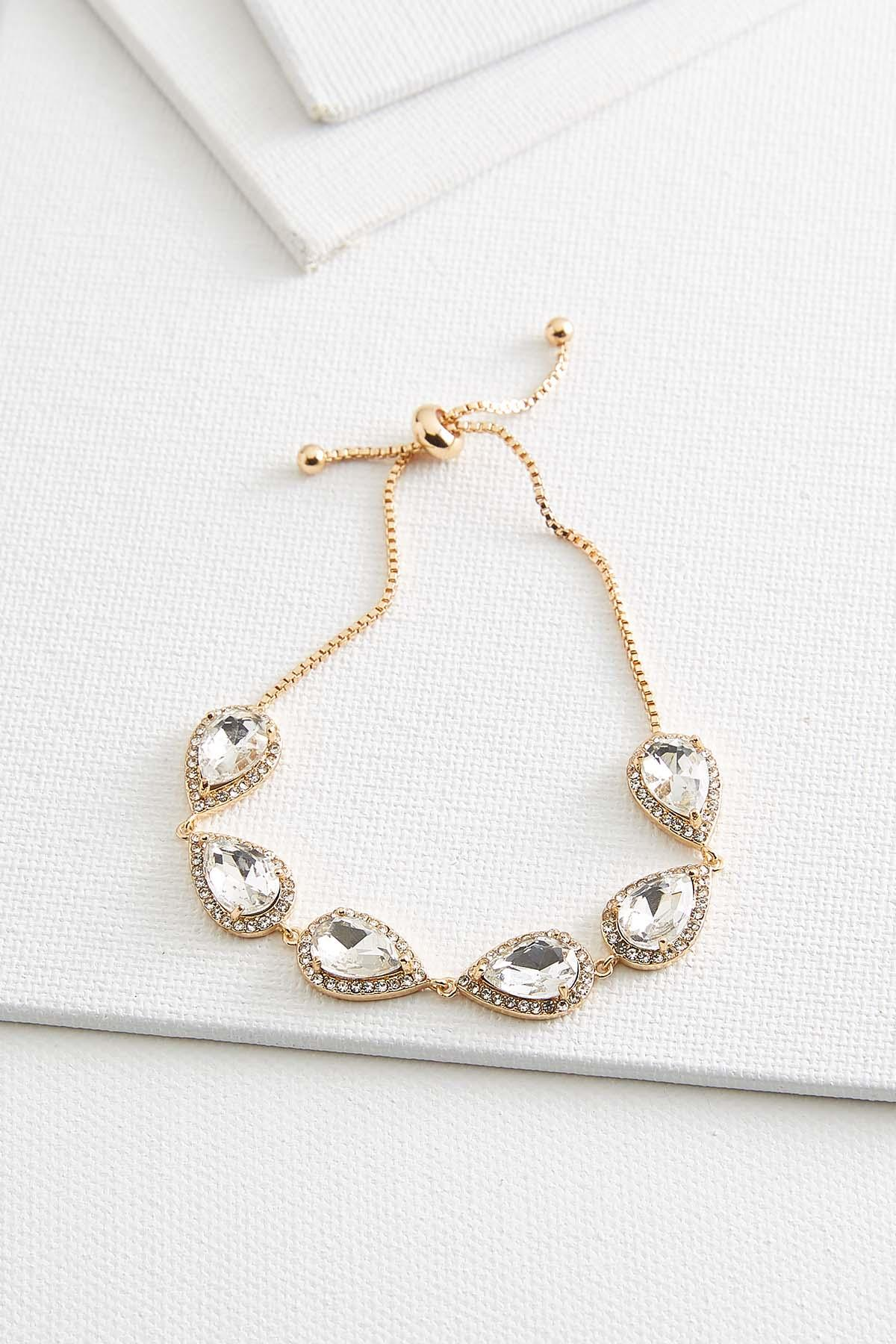 Shimmery Tear Shaped Bracelet