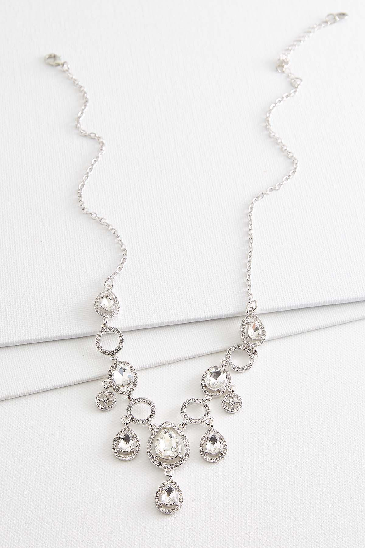 Dangling Stone Bib Necklace