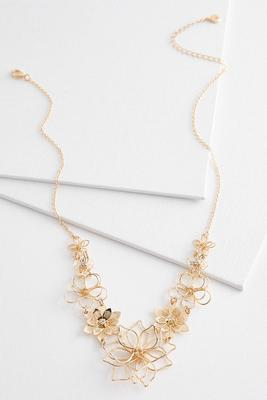 mix floral bib necklace