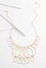 Textured Tear Shape Bib Necklace