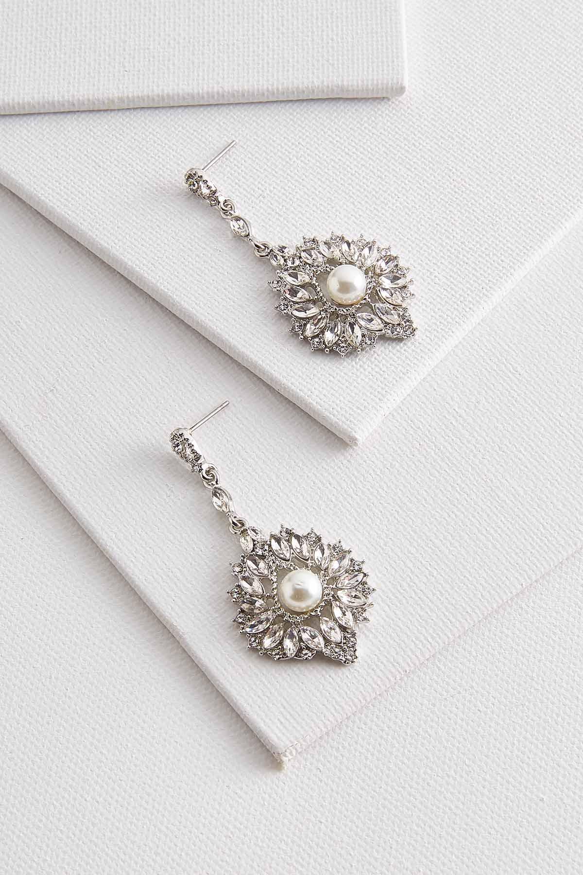 Pearl Embellished Chandelier Earrings