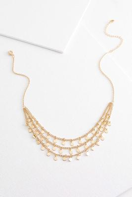 layered shaky disc necklace