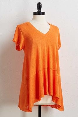 solid slub knit tunic