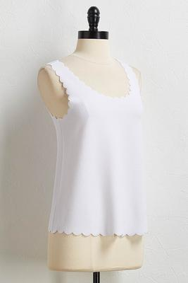 scalloped trim tank