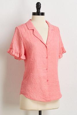 ruffled trim shirt