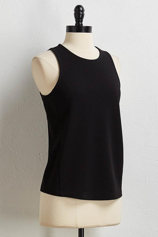 Solid Crepe Knit Tank