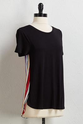 multi stripe back tee
