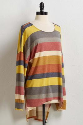 natural stripe hacci top