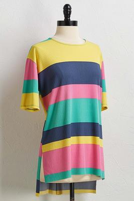 ribbed bright striped top