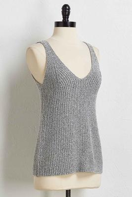 solid sweater tank
